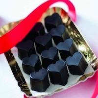 Cuori di cioccolato con sciroppo d'acero