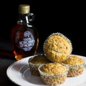 Muffin alle mele e sciroppo d'acero
