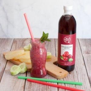 Detox Drink con succo di cranberries